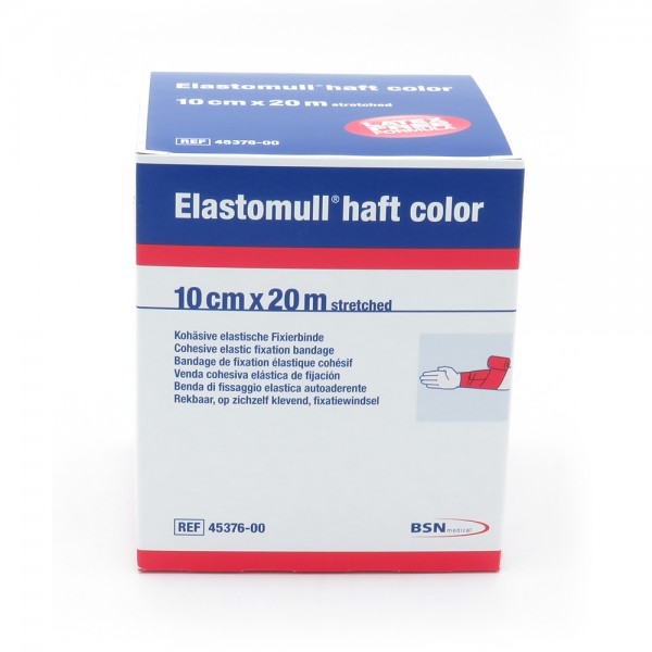 Elastomull® haft color, 20 m x 10 cm, rot