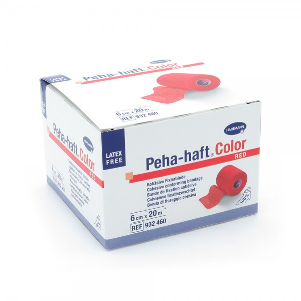 Peha-haft® Color, latexfrei, 6 cm x 20 m, rot