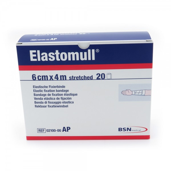 Elastomull 4 m x 6 cm ohne Cello, 20 Binden